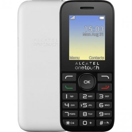 Мобильный телефон Alcatel One Touch 1020D White телефон alcatel one touch 991 купить