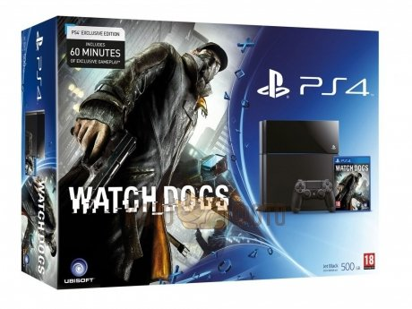Игровая консоль Sony PlayStation 4 (500 Gb) Black (CUH-1208A)» + игра «Watch Dogs»