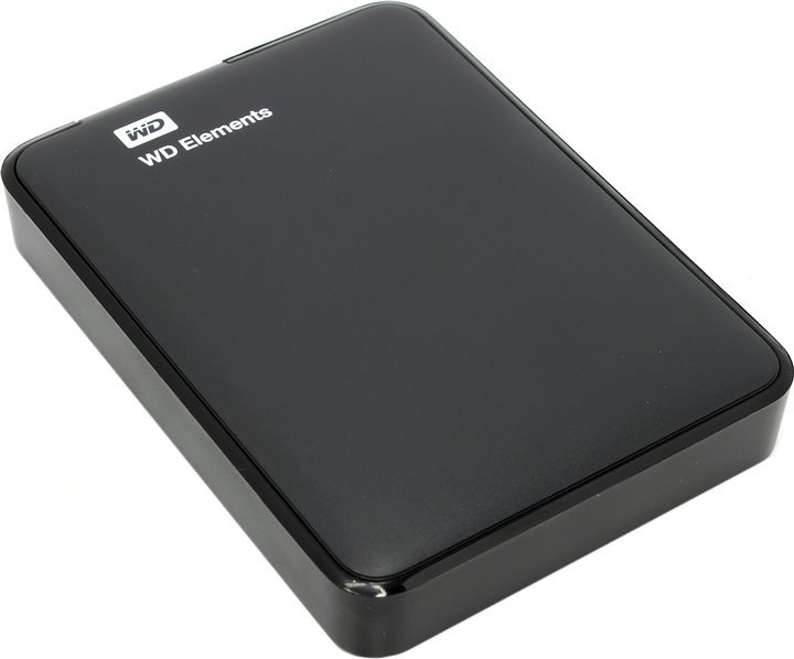 Внешний HDD WD Elements Portable 500Gb Black (WDBUZG5000ABK-WESN)