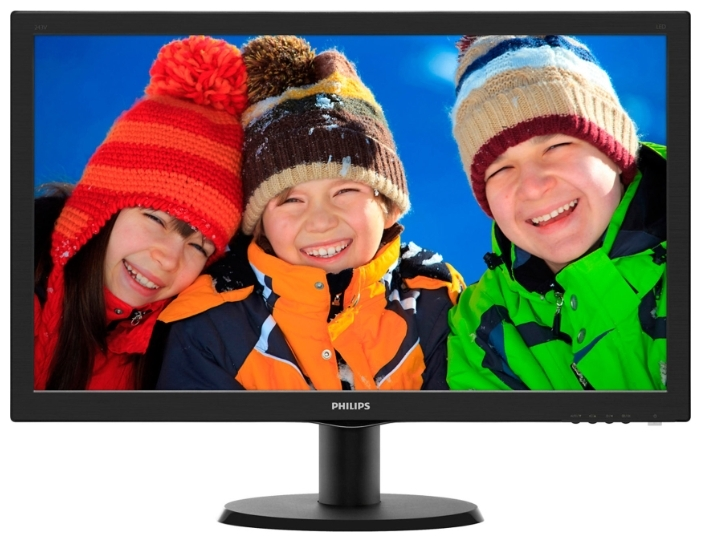 Монитор Philips 23.6 243V5LSB(10/62) черный монитор жк philips 243v5qsba 01
