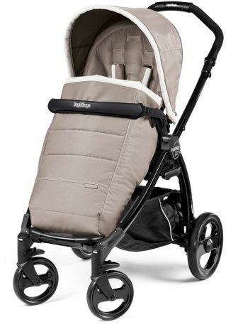 Коляска прогулочная Peg-Perego Book Plus Pop Up Completo с шасси Book Plus Black/ Versilia бежево-бе