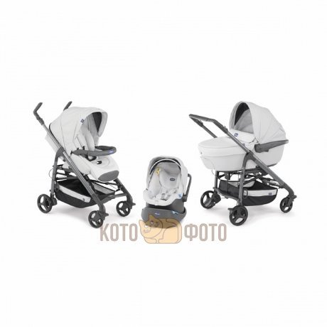 Коляска 3 в 1 Chicco Trio Love Grey