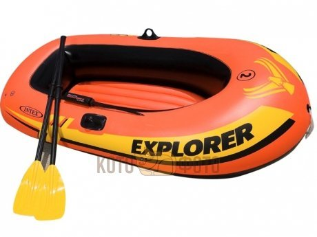 Лодка Intex 58331 Explorer 200 Set, 2-мест +насос, пласт весла