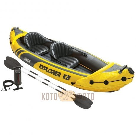 Лодка Intex Explorer K2 Kayak Set (68307), с веслами