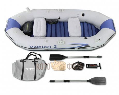 Лодка Intex Mariner 3 Set (68373NP), с веслами