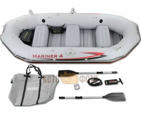 Лодка Intex Mariner 4 Set (68376), с веслами