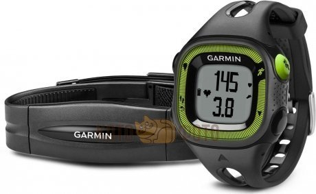 Спортивные часы Garmin Forerunner 15 Black/Green HRM1 (010-01241-70)