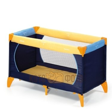 Манеж-кроватка Hauck Dreamn Play Yellow/Blue/Navy