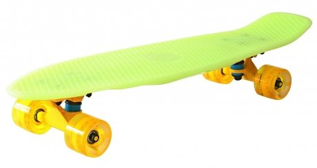 Скейтборд Y-SCOO Big Fishskateboard glow yellow и yellow