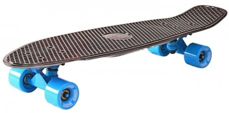 Скейтборд Y-SCOO Big Fishskateboard metallic black bronzat и blue