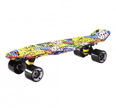 Скейтборд Y-SCOO Fishskateboard Print Cartoon
