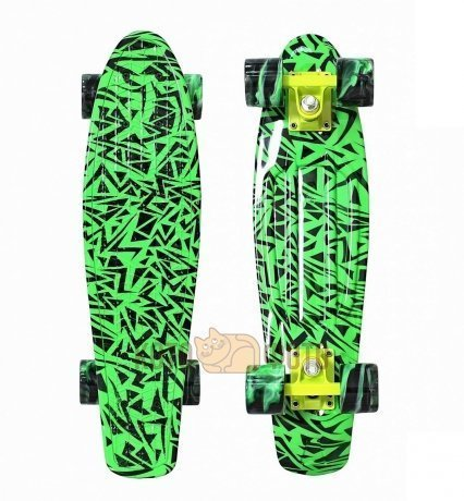 Скейтборд 12-13 Y-SCOO Penny board RT 22 Print Green Elka (green/mix)