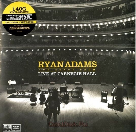 Виниловая пластинка Adams, Ryan, Ten Songs From Live At Carnegie Hall цены