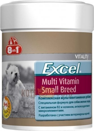 8in1 Эксель Мультивитамины Для Собак Мелких Пород (70 Таб ), Excel Multi Vitamin Small Breed 109373 от Kotofoto