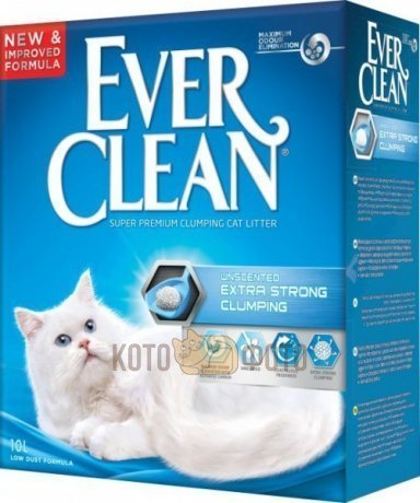 Ever Clean Комкующ. наполнитель без аромата (Extra Strength Unscented) - синяя полоса 007/440065 6к