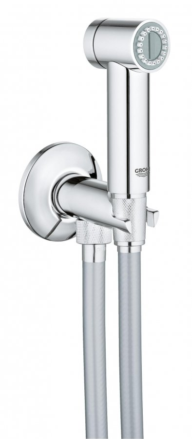 Гигиенический душ Grohe Sena, душевой шланг Silverflex 1000 мм 26329000 гигиенический душ grohe sena trigger spray 26329000