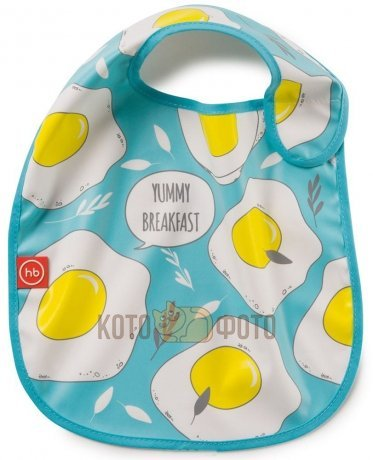 Нагрудник на липучке Happy baby 16009N (Blue)