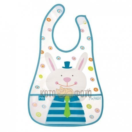 Нагрудник на липучке Children's bib Happy baby (ПВХ-пленка) 16005N (Mint)