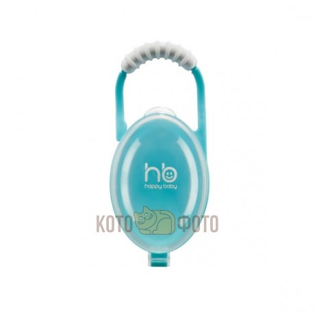 Контейнер для пустышек SOOTHER BOX Happy baby (blue, lime) 11005 (Blue)