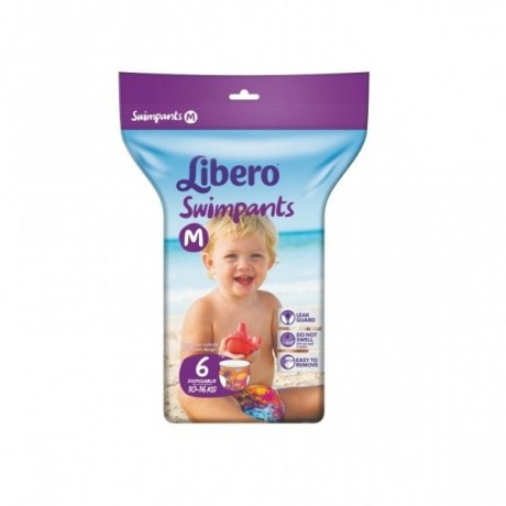 Трусики Libero Swimpants M (10-16 кг) 6 шт.