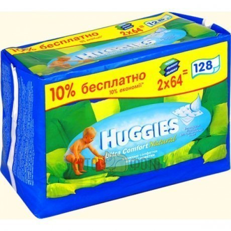 Салфетки Huggies ultra comfort+ALOE N128