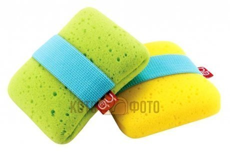 Мочалка Happy baby SPONGE с фиксатором (yellow, green) 35004 (Green)