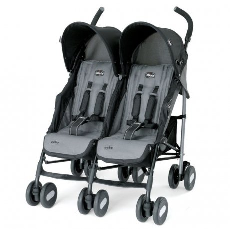Коляска для двойни Chicco Echo Twin Stroller Coal