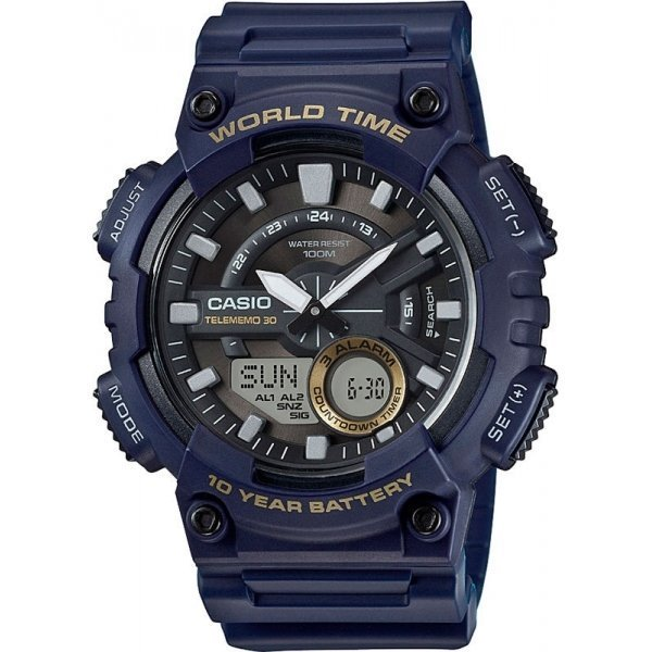 Наручные часы Casio Combinaton Watches AEQ-110W-2A наручные часы casio combinaton watches aeq 100w 1b