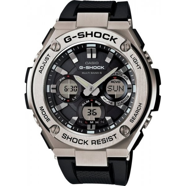 Наручные часы Casio G-Shock GST-W110-1A dual negative ion hdro sana ion cleanse detox foot spa double with infrared belt ah 06 foot massage footbath spa