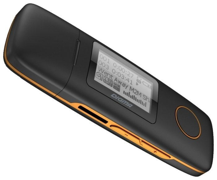Цифровой плеер Digma U3 - 4Gb Black-Orange xduoo x2 professional mp3 hifi music player with oled screen support mp3 wma ape flac wav format