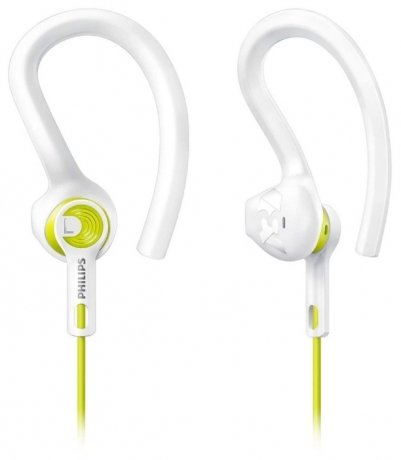 Наушники Philips ActionFit SHQ1400LF/00 White philips she3515wt white наушники