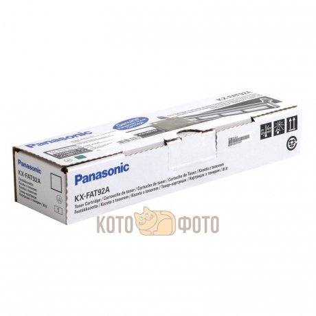 Тонер Картридж Panasonic KX-FAT92A черный для Panasonic KX-MB Series (2000стр.)