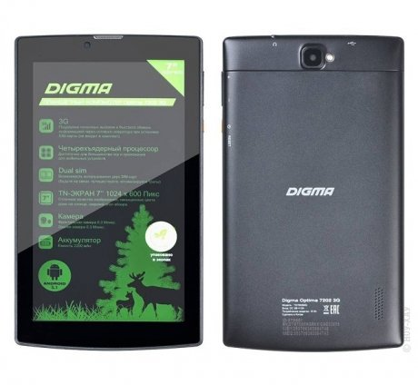 Планшет Digma Optima 7202 3G (TS7055MG) Black