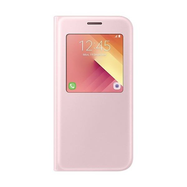 Чехол Samsung S-View Standing для Galaxy A5 2017 (A520) EF-CA520PPEGRU Pink mooncase view window leather side flip pouch stand shell back чехолдля samsung galaxy s duos s7562 hot pink