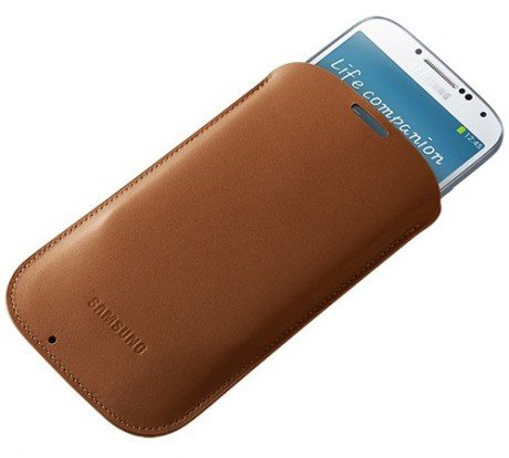 Чехол Samsung Pouch for Galaxy S4 Brown