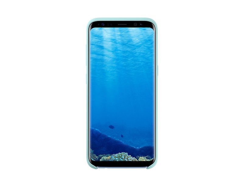 Чехол Samsung Silicone Cover для Galaxy S8 (G950F) EF-PG950TLEGRU Blue top quality original new for samsung galaxy s8 g950f small front facing camera module flex cable replacement parts free shipping