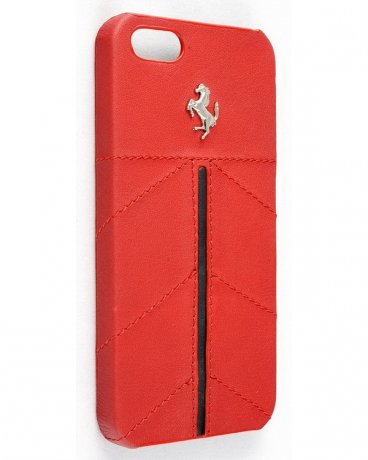 Ferrari California Collection Hard Case Leather iPhone 5 Red