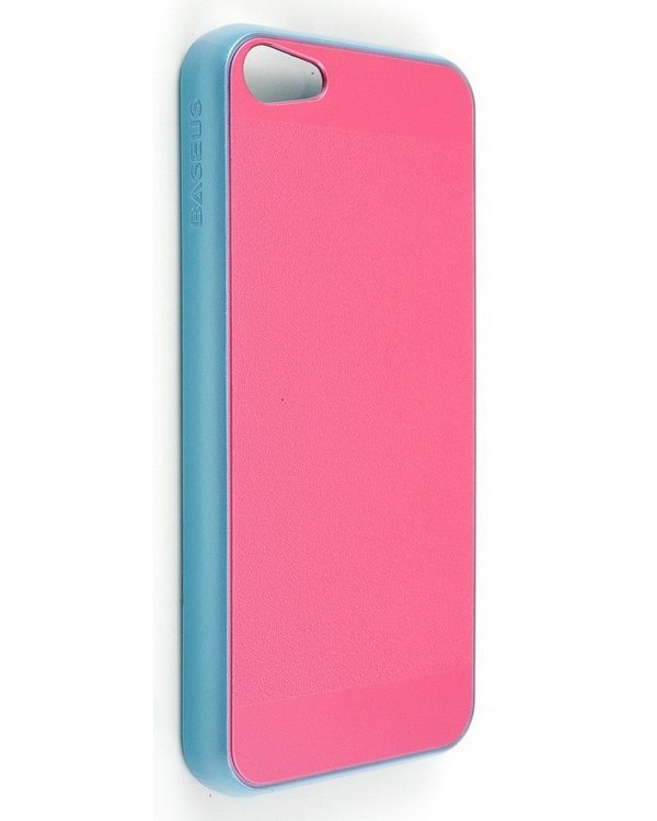 Baseus iCase Case for iPhone 5C (Pink/Blue) high heels pattern glow in the dark protective plastic back case for iphone 5c black deep pink
