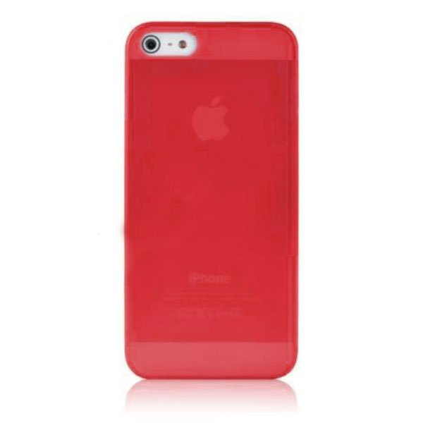 Baseus Organdy Case for iPhone 5 (Red) london big ben style protective plastic back case for iphone 5 red blue brown
