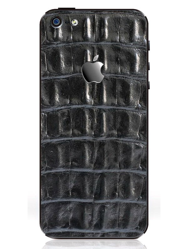 iRich Leather Sticker i5-300 for Apple iPhone 5 (Black)