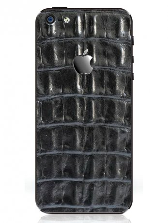 iRich Leather Sticker i5-300 for Apple iPhone 5S (Black)