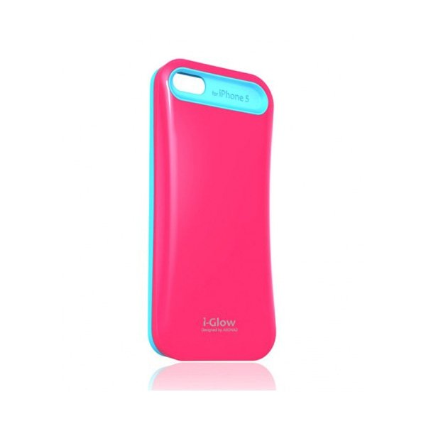 Чехол AEONAZ I-Glow для iPhone 5/5s Pink-Blue (i501T) mooncase iphone 5 5s leather flip wallet card holder pouch stand back чехол для apple iphone 5 5s dark blue