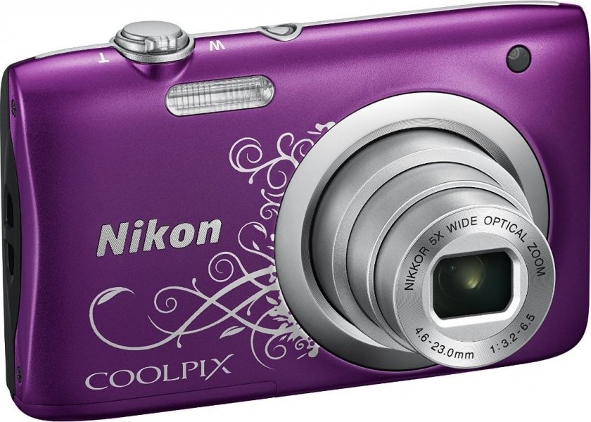 Цифровой фотоаппарат Nikon Coolpix A100 Purple Lineart фотоаппарат nikon coolpix a10 purple purple lineart 16mp 5x zoom sd usb 2 7