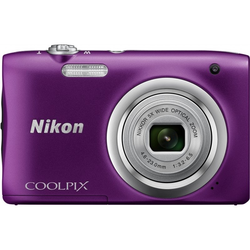 Цифровой фотоаппарат Nikon Coolpix A100 Purple фотоаппарат nikon coolpix a10 purple purple lineart 16mp 5x zoom sd usb 2 7