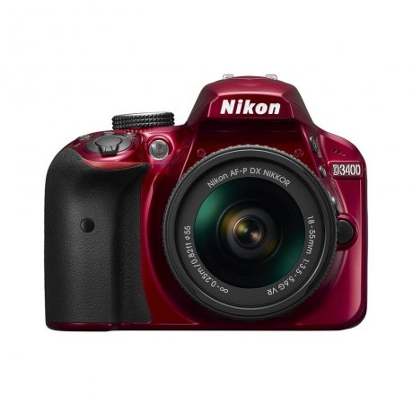 Фотоаппарат зеркальный Nikon D3400 Kit 18-55 VR Red фотоаппарат nikon d3400 kit 18 55 mm af p vr red