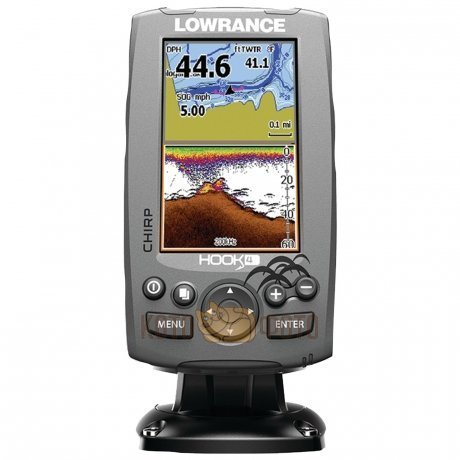 Эхолот Lowrance Hook-4 Mid/High/DownScan (83/200+455/800kHz)