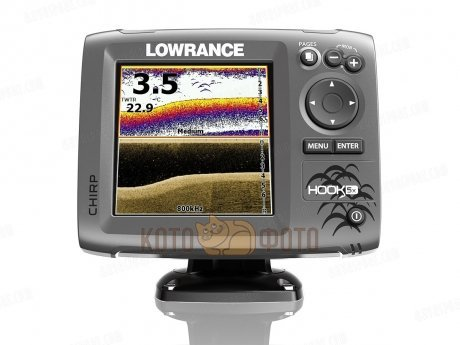 Эхолот Lowrance Hook-5x Mid/High/DownScan (83/200+455/800kHz)