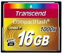CompactFlash Card 16GB 1000X Transcend