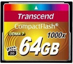 Карта памяти CompactFlash Card 64GB 1000X Transcend от Kotofoto