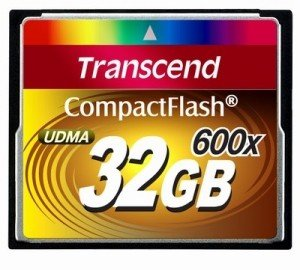 CompactFlash Card 32GB 600X Transcend
